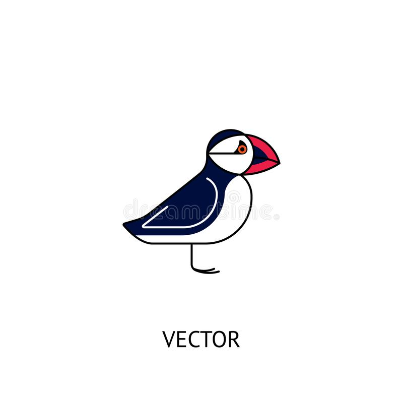 Puffin bird icon royalty free illustration