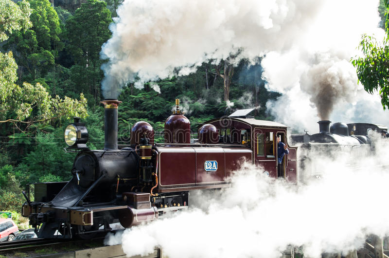 Puffing Billy steam train in the Dandenong Ranges royalty free stock images