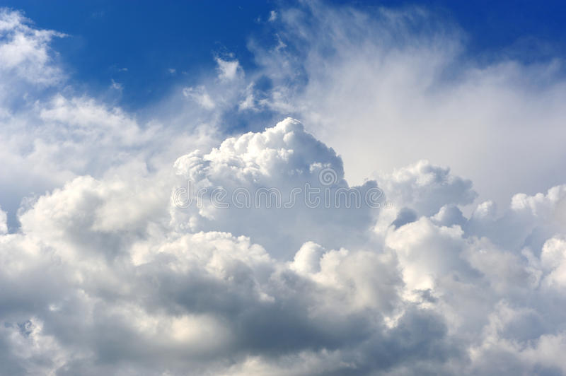 Download Puffy Clouds stock image. Image of weather, summer, sunny - 15053629