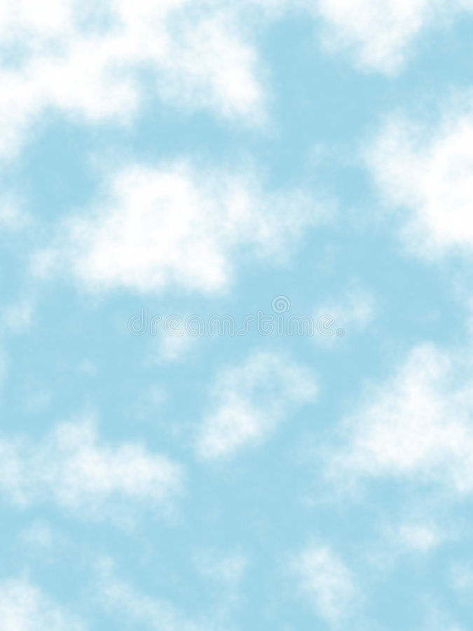 Puffy clouds royalty free illustration