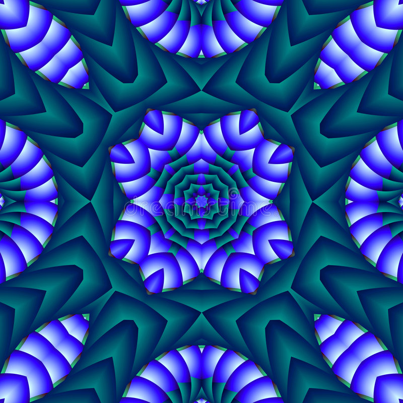 Puffy quilt. Abstract fractal image resembling a puffy quilt vector illustration