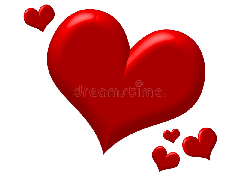 puffy red hearts stock vector illustration of soft dimensional rh dreamstime com pictures of red hearts for valentine's day pictures of big red hearts