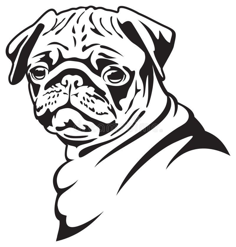 pug собаки иллюстрация штока