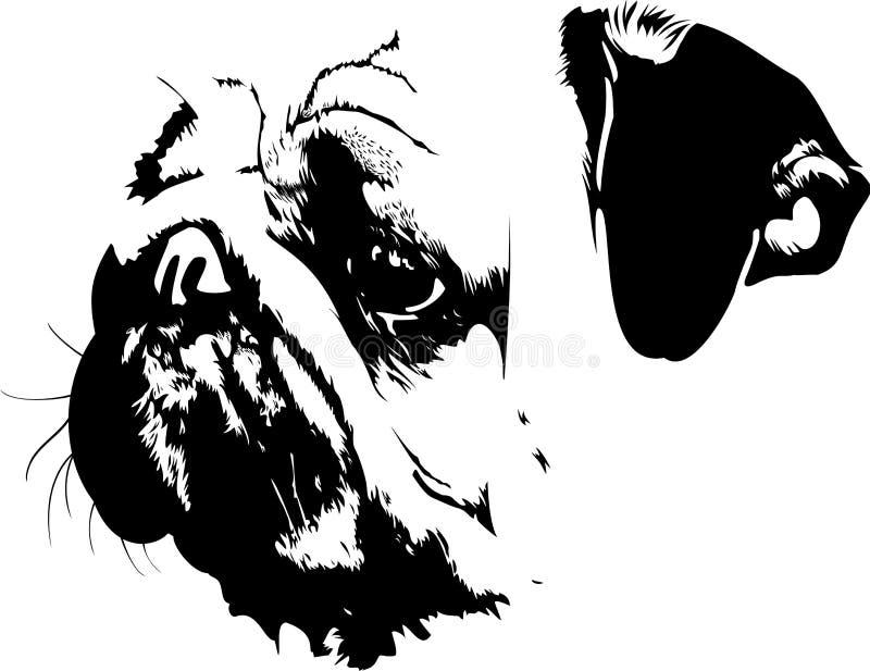 Download Pug stock vector. Illustration of dogie, nice, sweet - 29184434