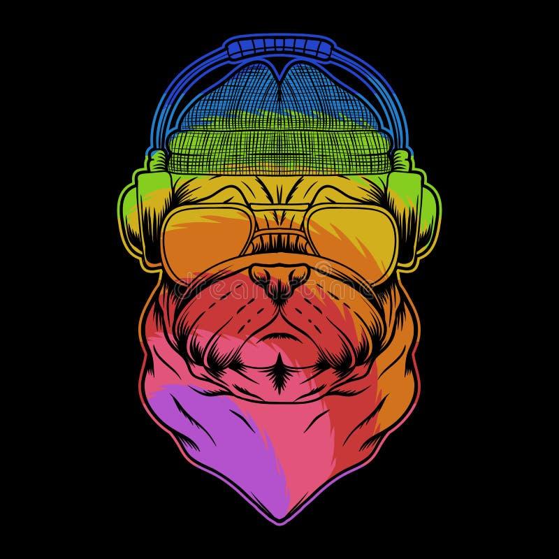 Cute Pug Dog Brand Logo Company