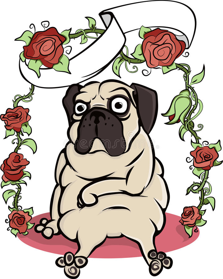 Download Pug hondaffiche stock illustratie. Illustratie bestaande uit baby - 54076632