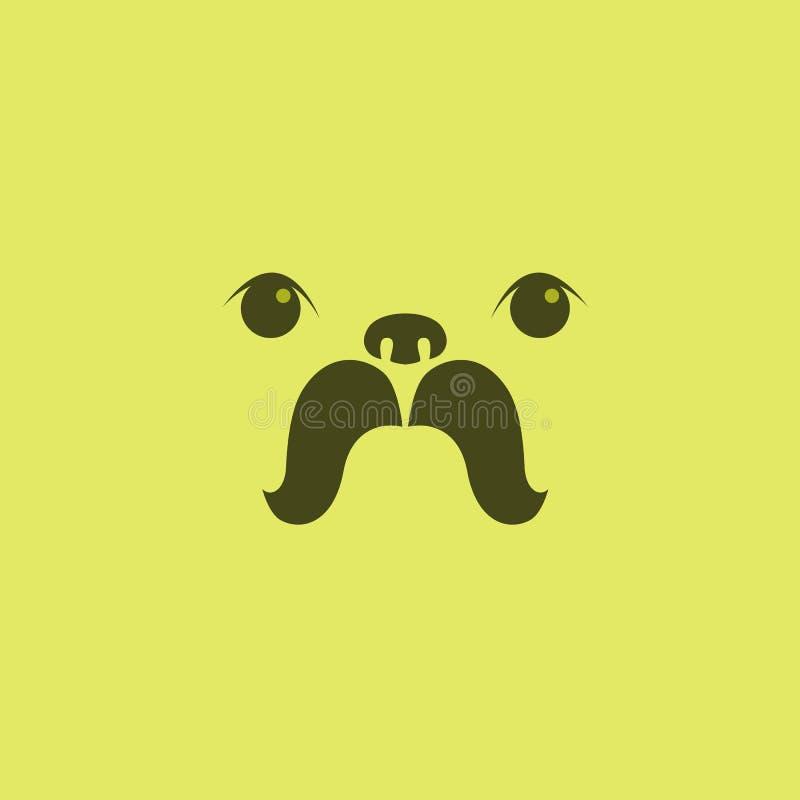 Pug puppy face design vector illustration