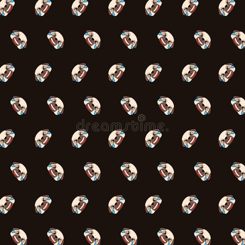 Pug - teste padrão 05 do emoji ilustração royalty free