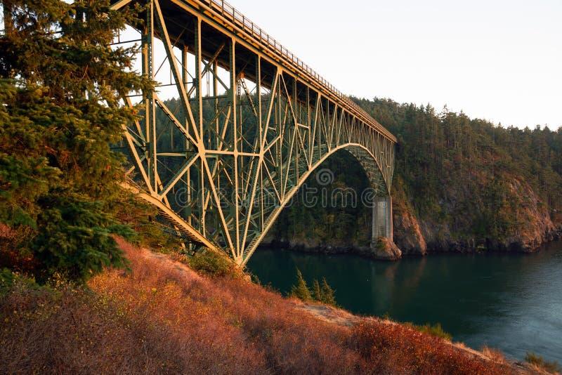 Puget Sound-de Eilanden van Fidalog Whidbey van de Teleurstellingspas royalty-vrije stock afbeelding