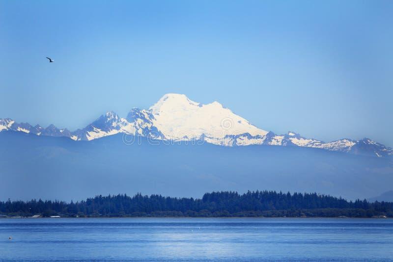 Puget Sound en MT Baker royalty-vrije stock foto's