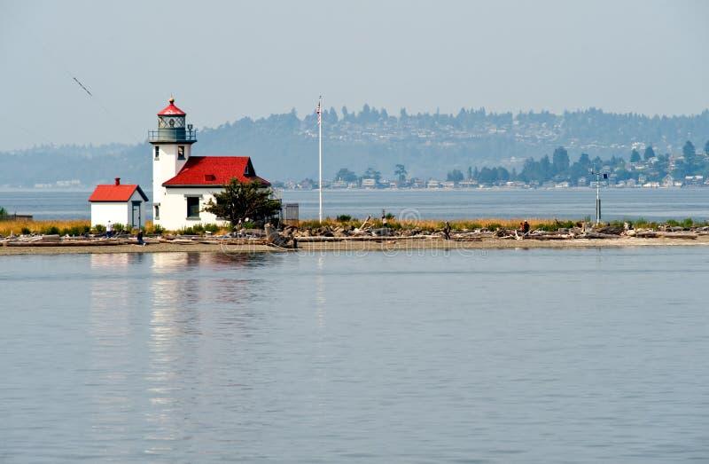 Puget Sound lighthouse royalty free stock photo