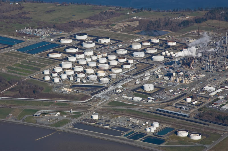 Download Puget Sound Oil Refinery stock photo. Image of sound - 13592760