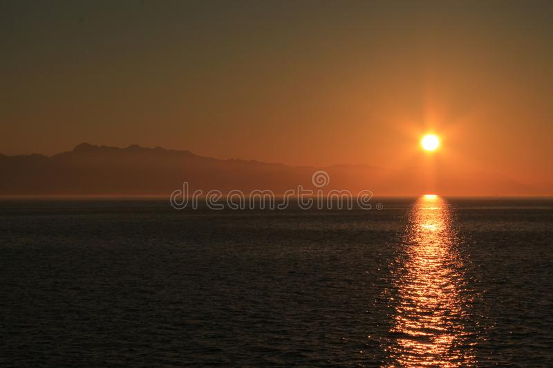 Sunset sound stock images