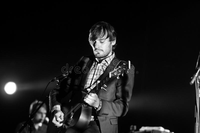 Puggy Ronquieres on stage royalty free stock images