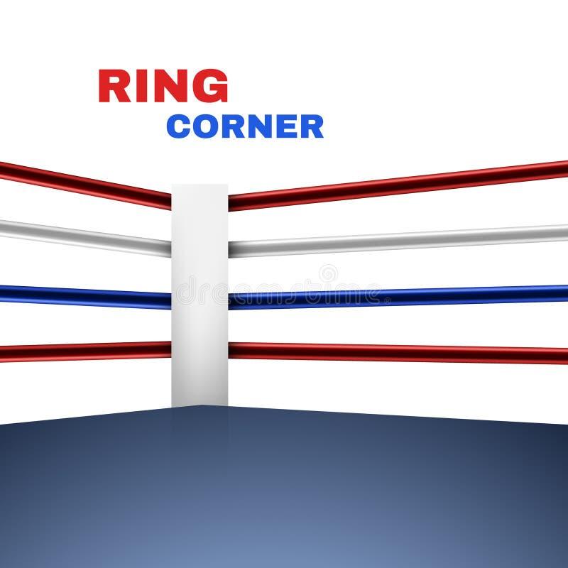 Pugilato Ring Corner Vettore illustrazione vettoriale