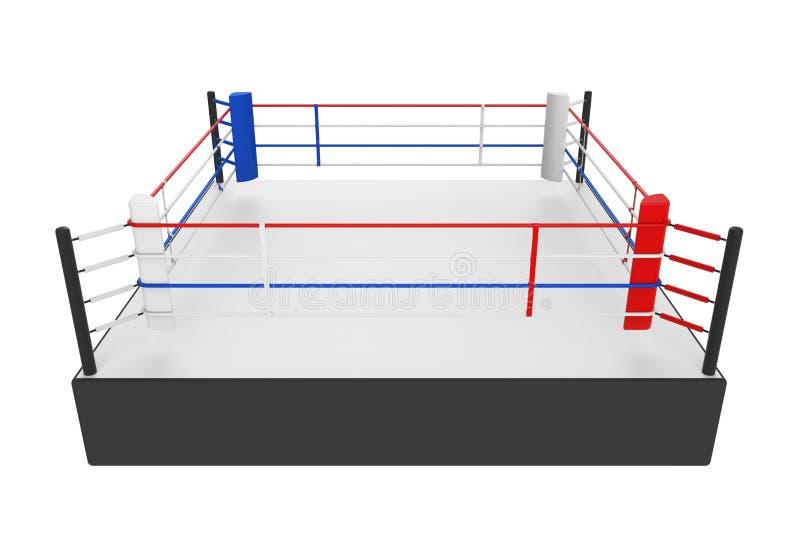 Pugilato Ring Isolated illustrazione di stock