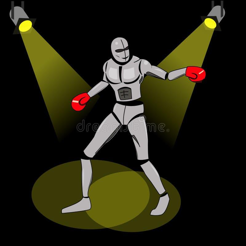 Pugile dalle particelle Illustrazione di vettore di pugilato Immagine degli atleti composta di particelle illustrazione vettoriale