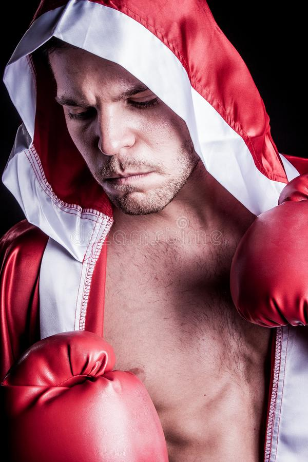 Pugilista profissional do lutador foto de stock