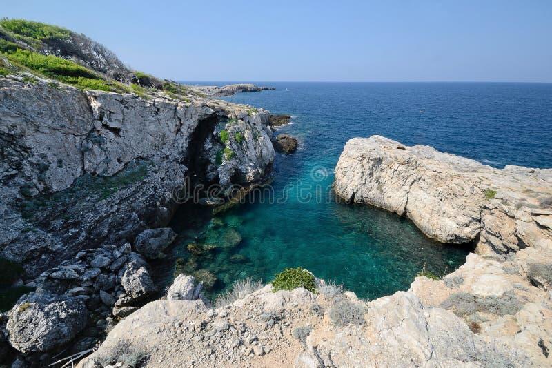 Puglia, Itália, August2018, ilhas de Tremiti imagem de stock royalty free