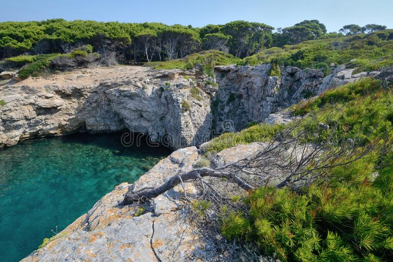Puglia, Włochy, August2018, Tremiti wyspy fotografia royalty free