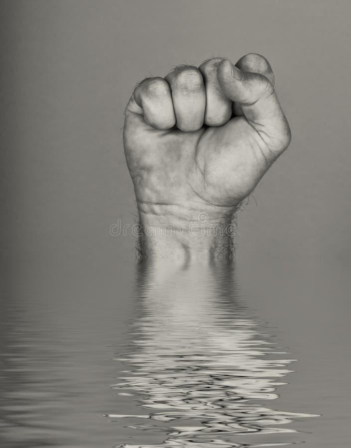 Pugno dall'acqua fotografia stock libera da diritti