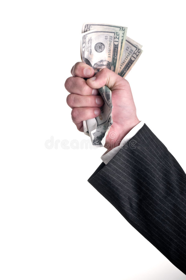 Pugno in pieno di soldi immagini stock libere da diritti