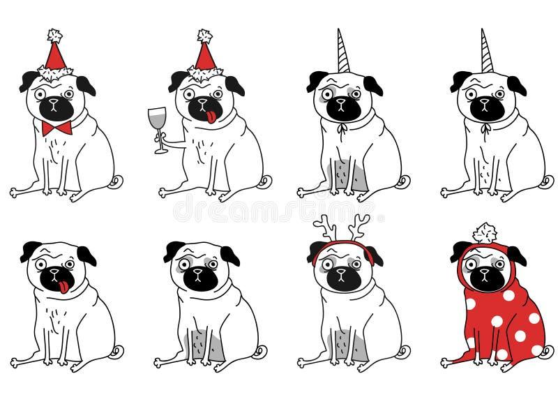 pugs stock illustratie
