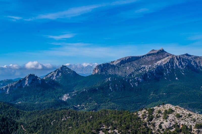 Puig de Massanella en montagnes de Tramuntana, GR 221, Majorque, Espagne photos libres de droits