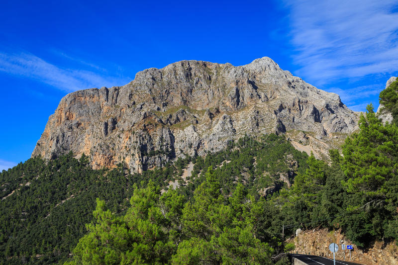 Puig Major, Mallorca. Puig Major, the highest mountain on the Balearic island of Mallorca (Majorca), Spain royalty free stock image