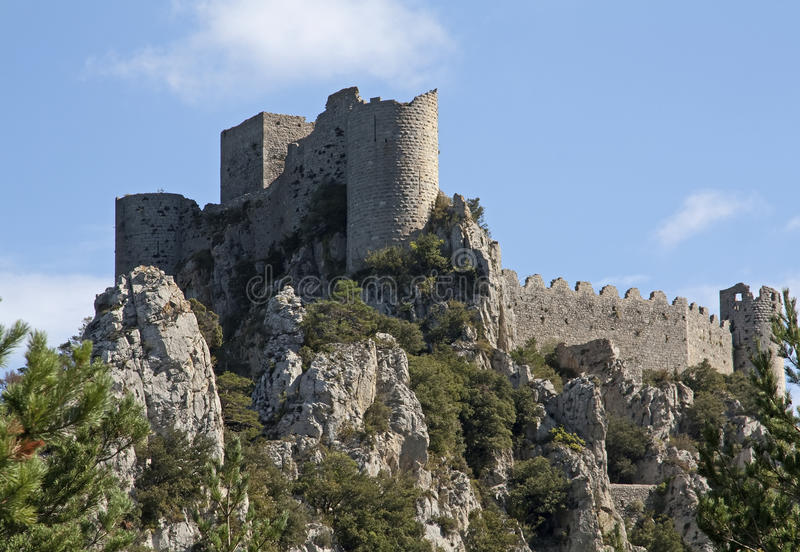 Puilaurens de château photos stock