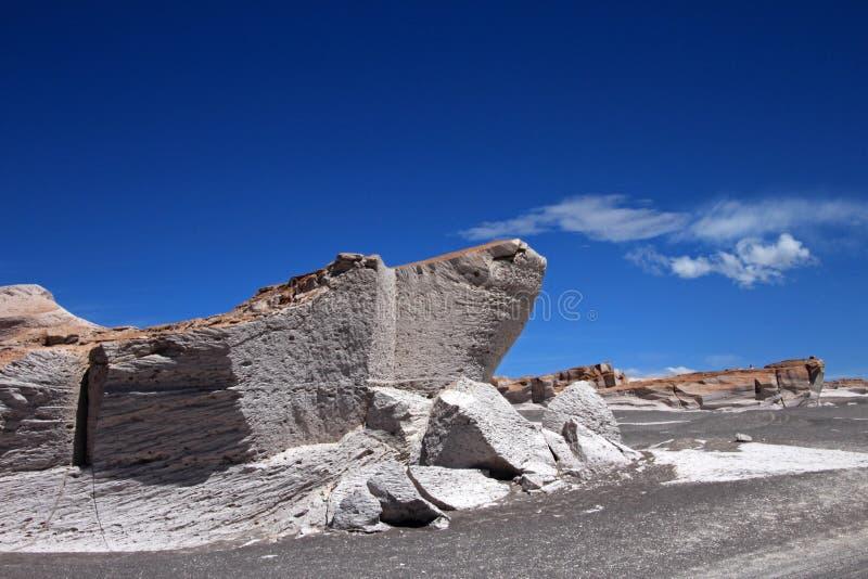 Puimstenen in Campo DE Piedra Pomez, Catamarca, Argentinië royalty-vrije stock afbeelding