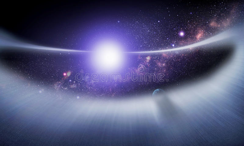 Puinschijf rond een ster #1 stock fotografie