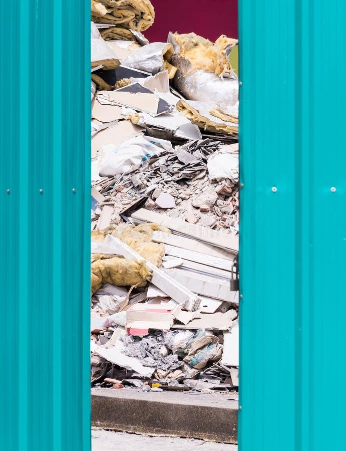 Puinstapel van de vernieling stock afbeeldingen