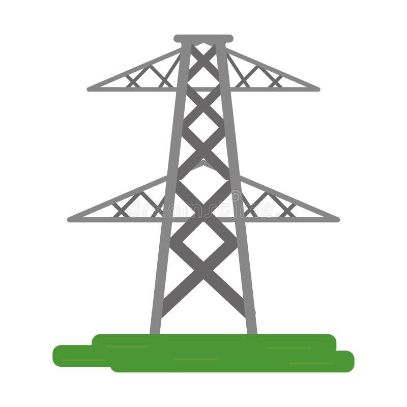 Puissance électrique d'énergie de transmission de tour illustration stock