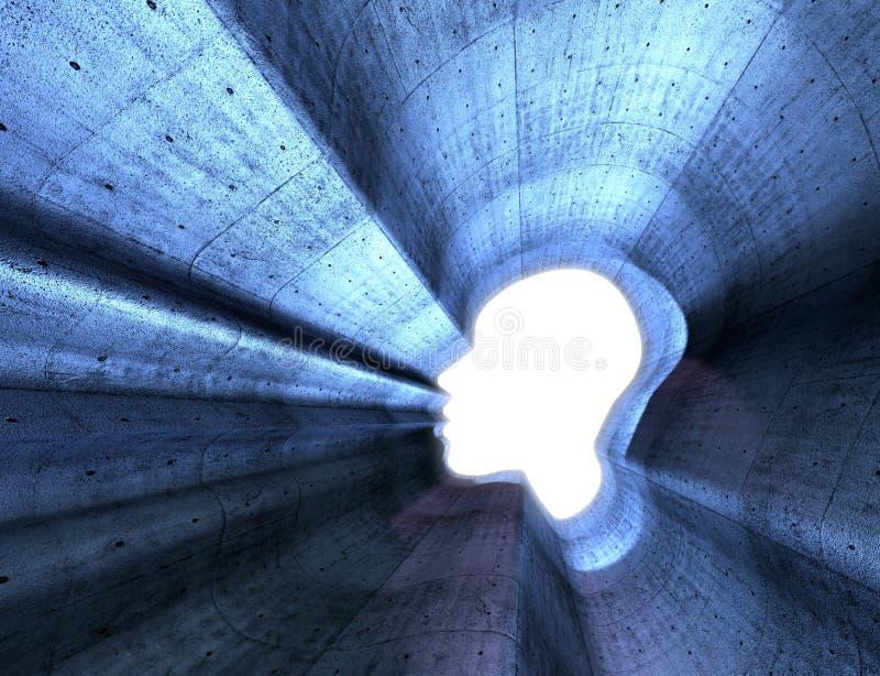 Puissance de la pensée, de la spiritualité et de l'imagination images stock