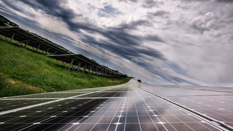 Puissance de panneau solaire photos libres de droits