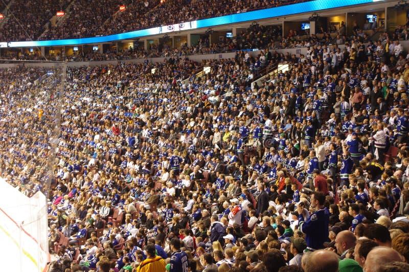 Puissance de serviette dans le NHL images libres de droits