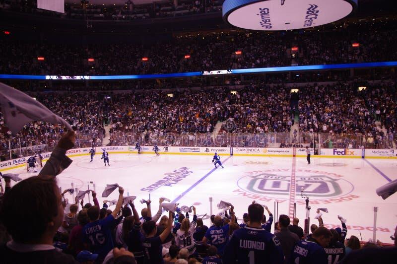Puissance de serviette dans le NHL image libre de droits