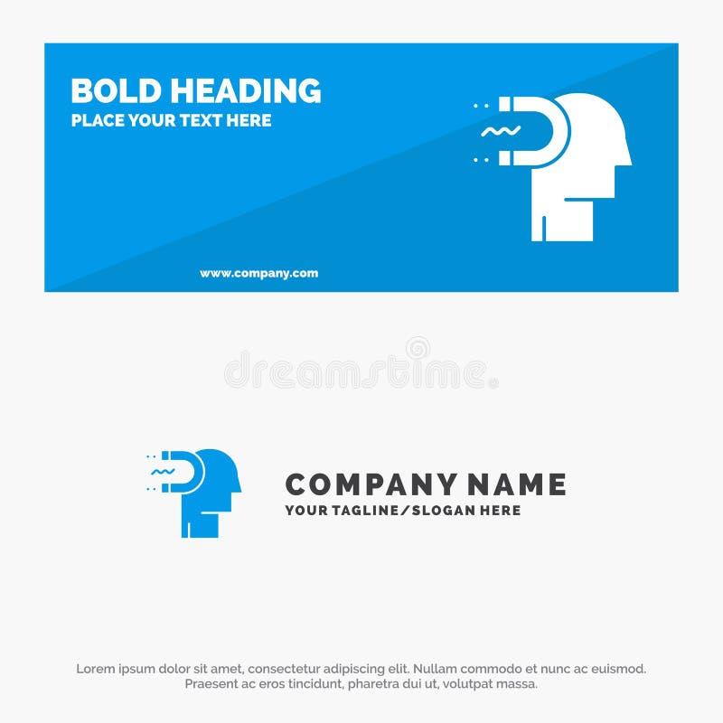 Puissance, influence, engagement, humain, influence, bannière solide et affaires Logo Template de site Web d'icône d'avance illustration libre de droits