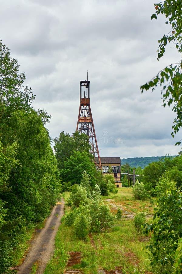 Puit Simon Old Coal Mine Disused Forbach Lorraine France fotografia stock libera da diritti