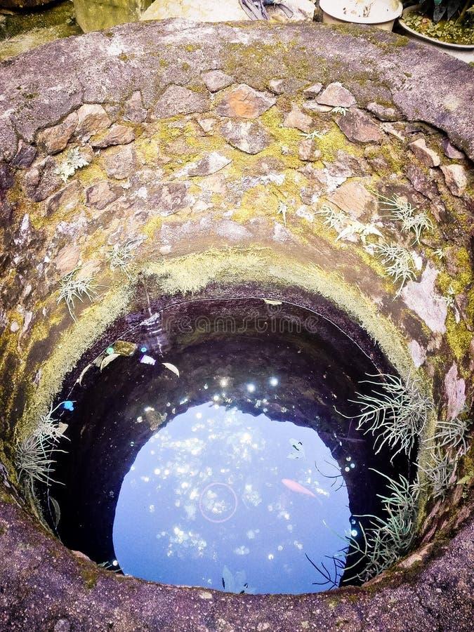 Puits chinois, où les Chinois antiques obtiennent l'eau potable  photographie stock libre de droits