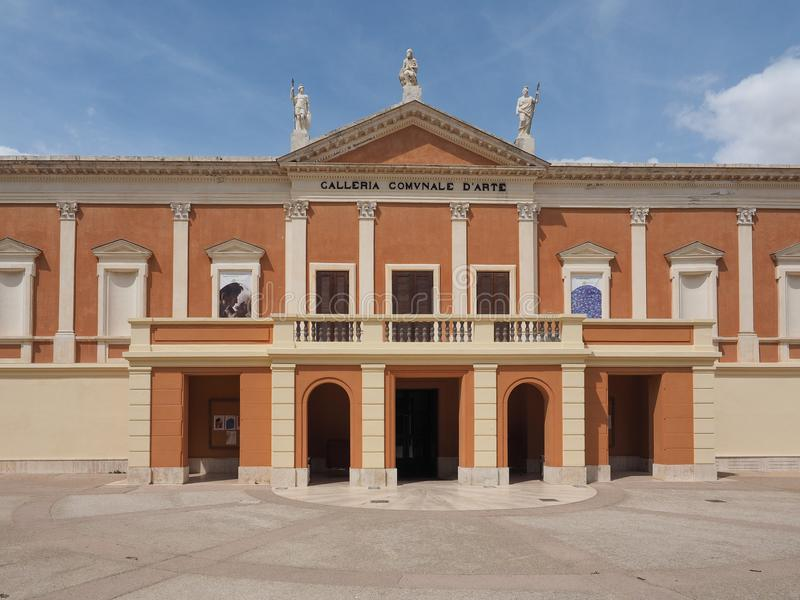 Puits Comunale d Arte (Art Gallery municipal) à Cagliari photo stock