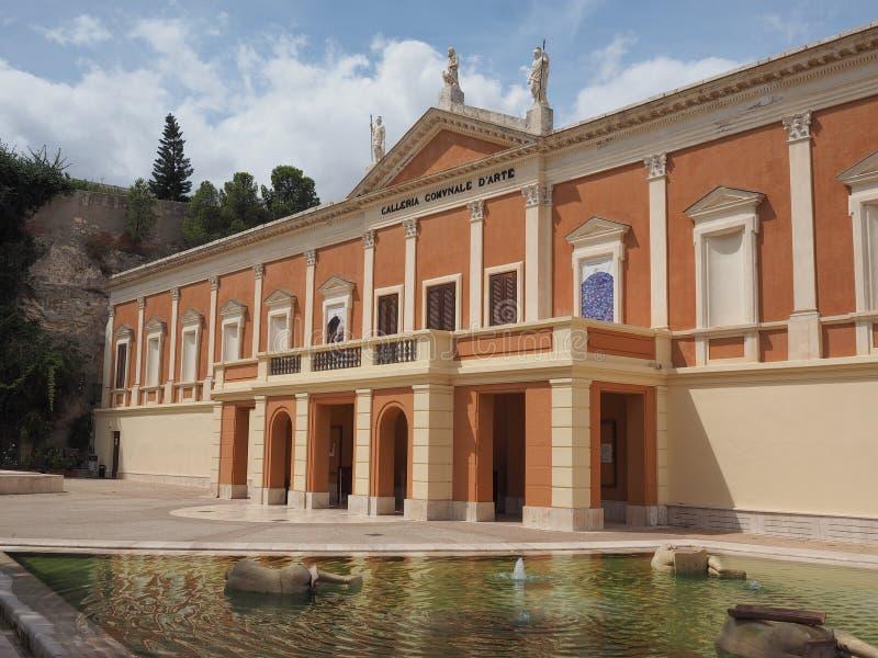 Puits Comunale d Arte (Art Gallery municipal) à Cagliari photographie stock libre de droits