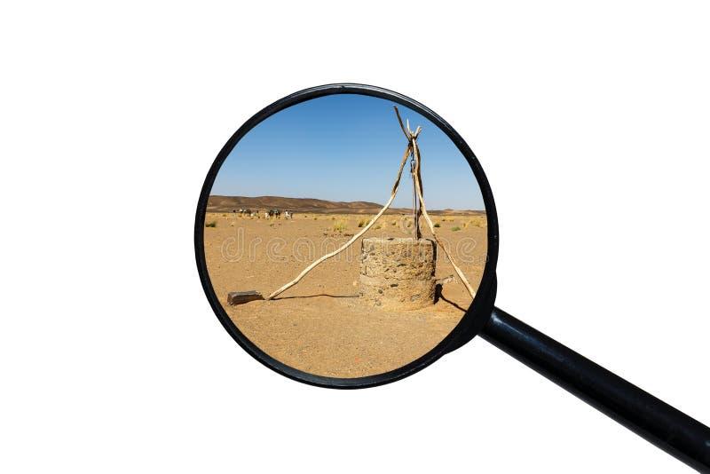 Puits d'eau dans le d?sert du Sahara photo stock