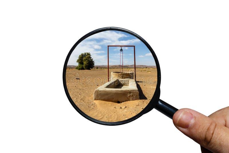Puits d'eau dans le d?sert du Sahara photographie stock