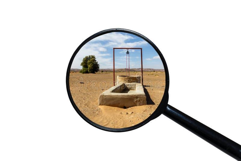 Puits d'eau dans le d?sert du Sahara image stock