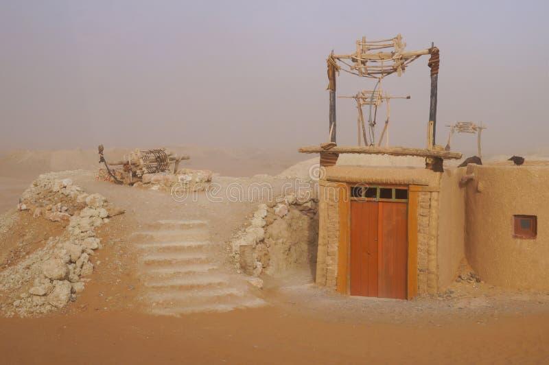 Puits d'eau en Sahara Desert, Maroc photos stock