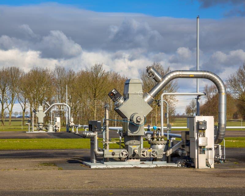 Puits de combustible fossile images libres de droits