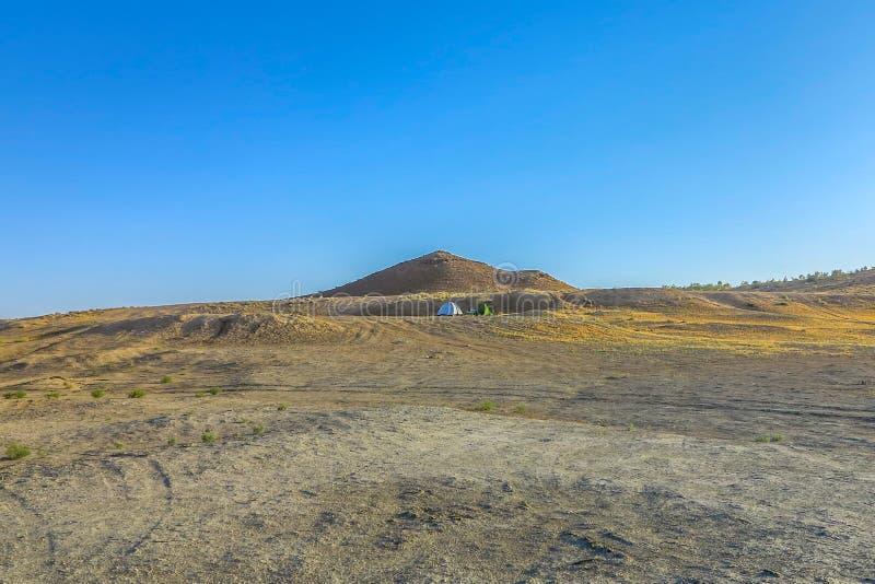 Puits 07 de cratère de gaz de Darvaza photos stock