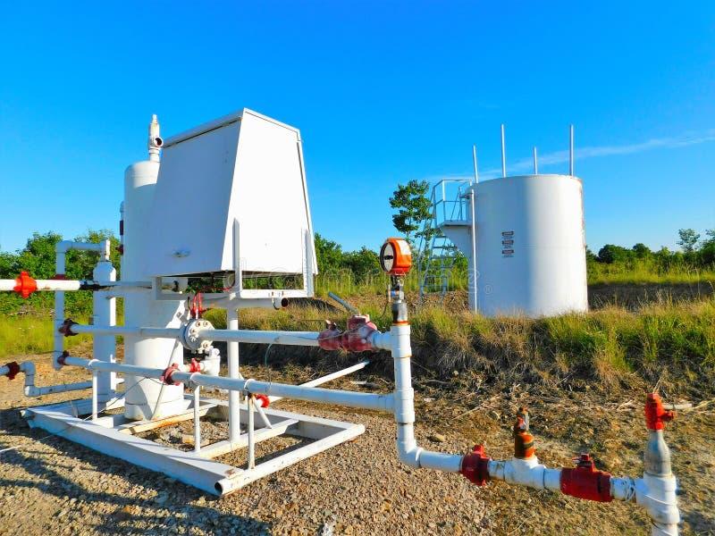 Puits de gaz naturel images libres de droits